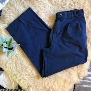Navy vintage broken in twill pants